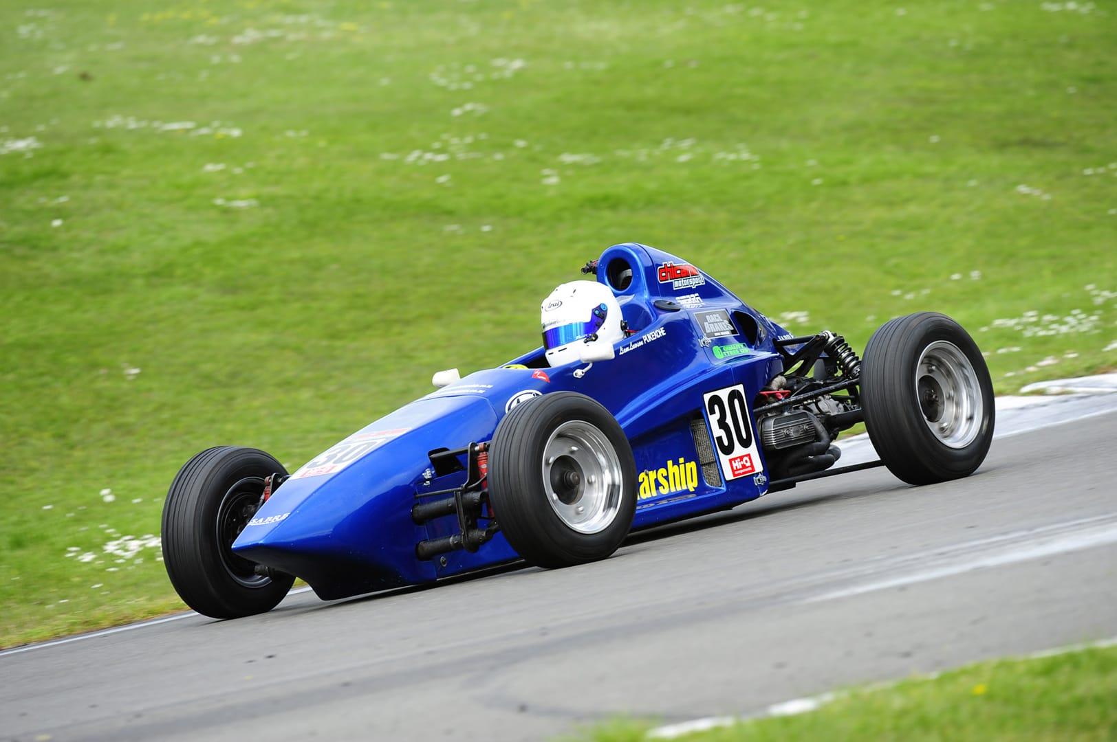 Lawson wins first championship race
