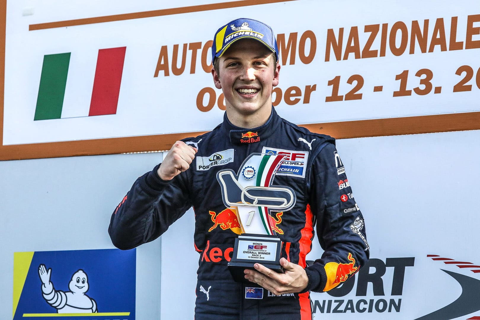 Lawson wins at Monza