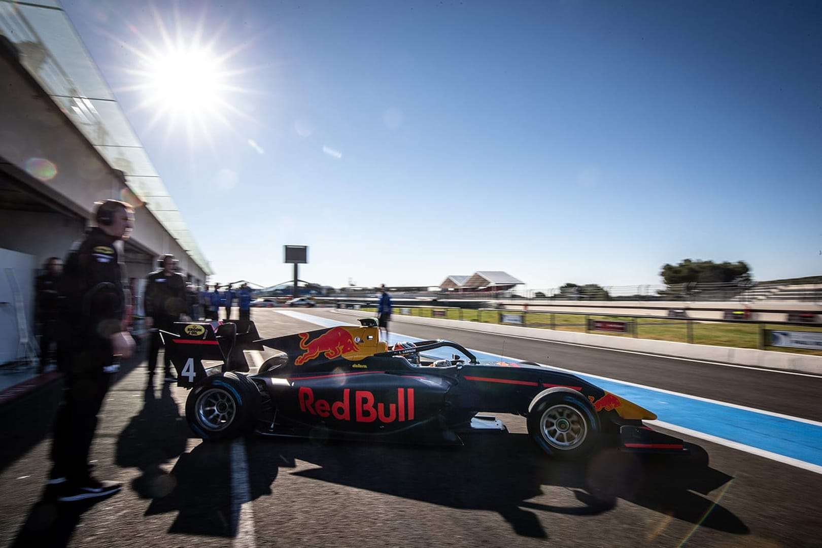 Lawson enjoys first run in Red Bull colours