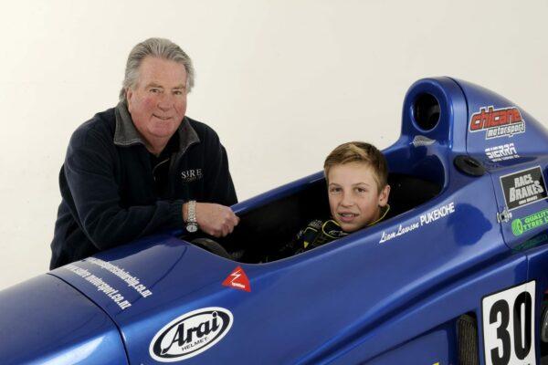 liam_lawson_formula_first_Lawson_(in car)_with_Dennis_Martin {copyright free by Geoff Ridder]